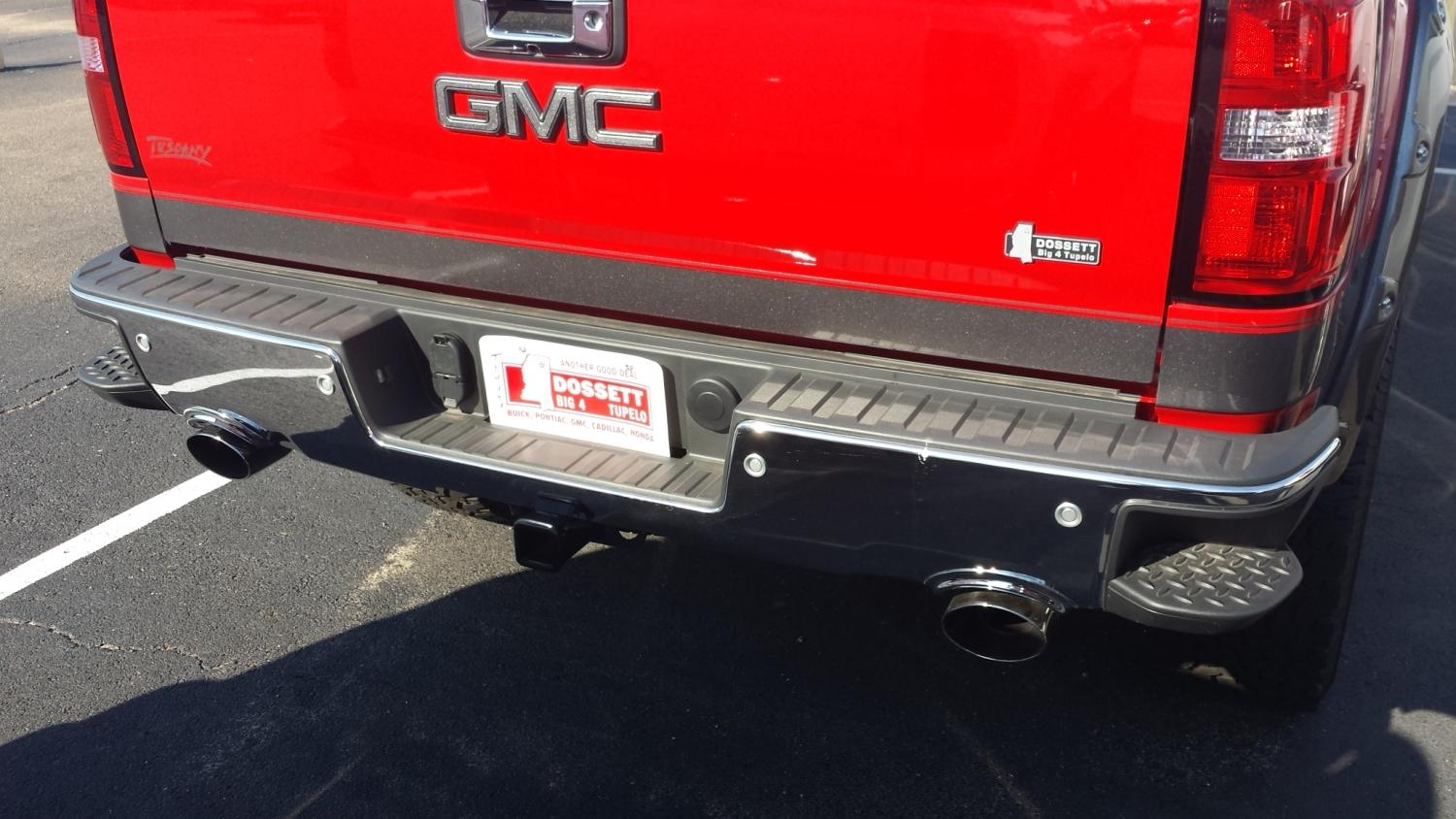 integrated dual exhaust in bumper