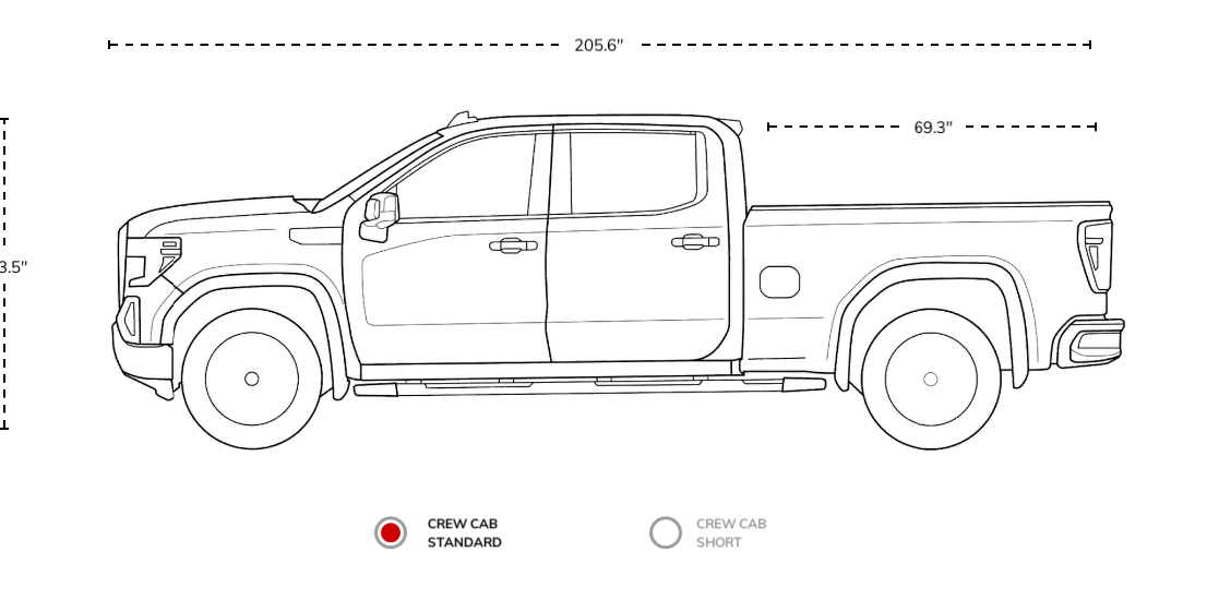 Did GM make the new pickup's box sizes shorter? YES they