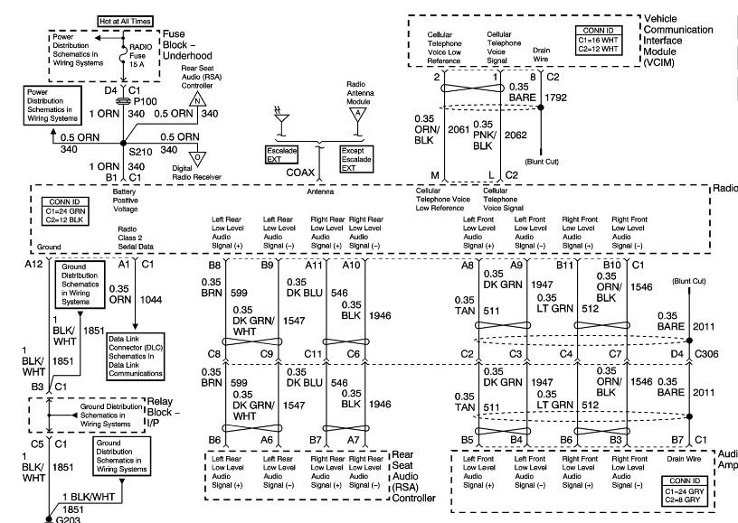 Color 2005 Chevy Silverado Radio Wiring Harness Diagram