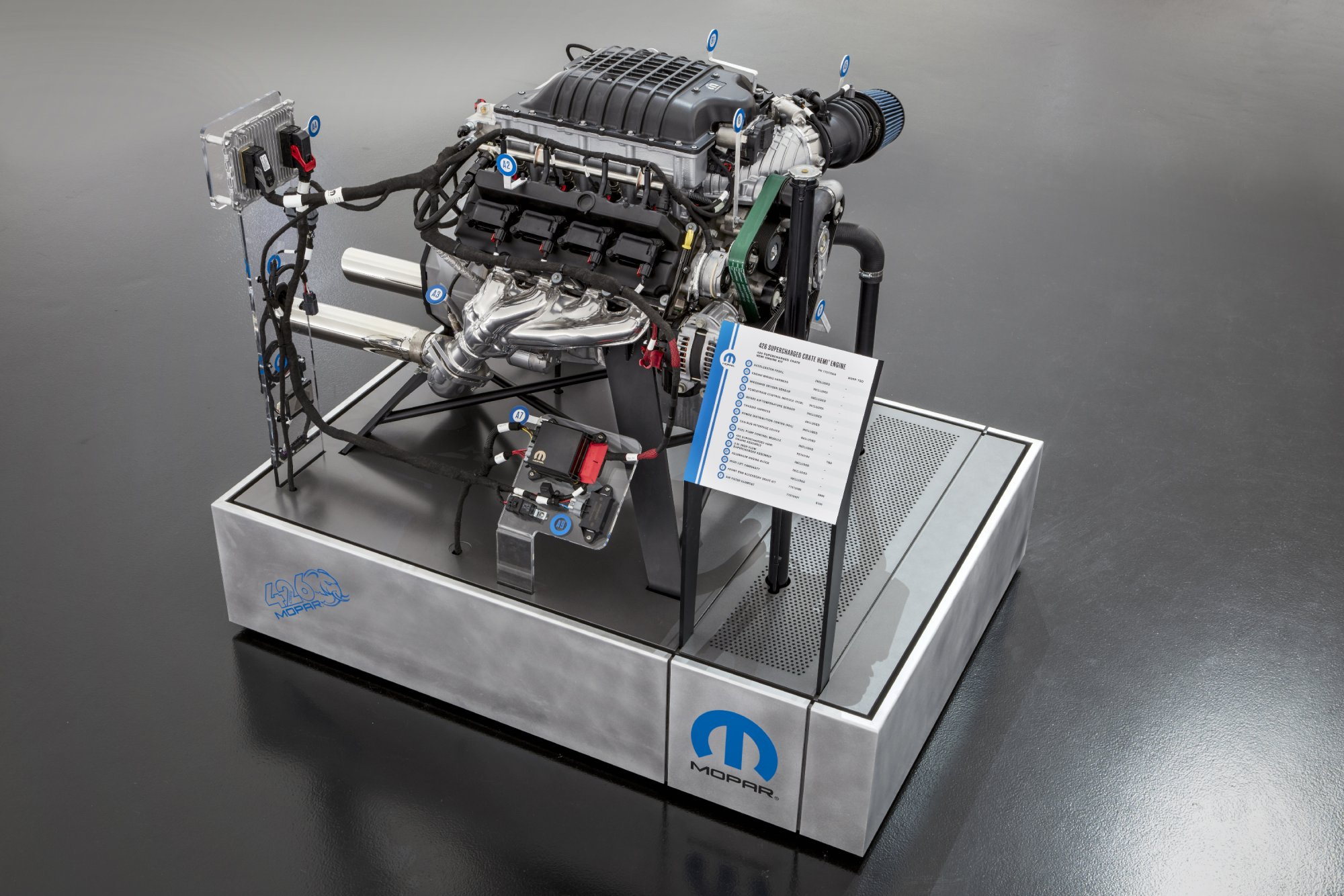 hight resolution of the hellcrate kit includes a powertrain control module pcm power distribution center engine wiring harness chassis harness accelerator pedal