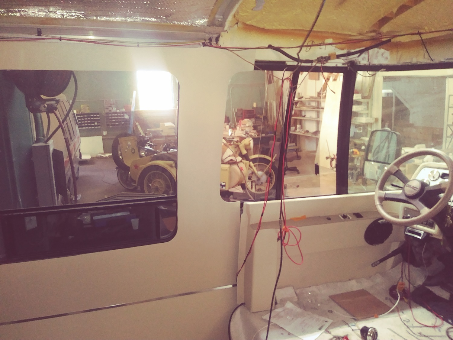 GMC Motorhome: Our new wall treatment - Cooperative Motor Works