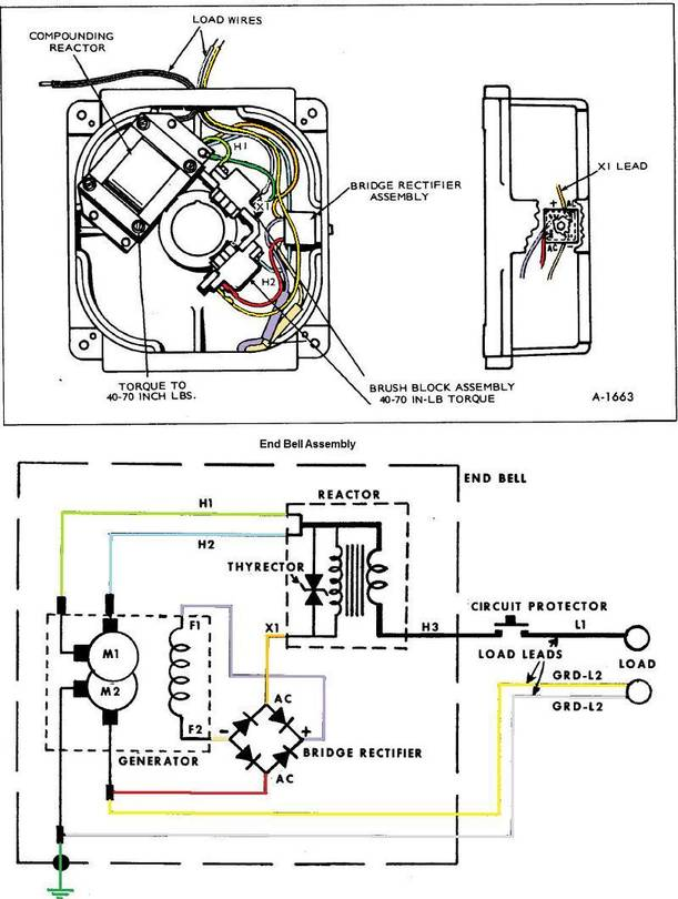 Onan 6kW Bell Assembly Wiring Illustration and Schematic