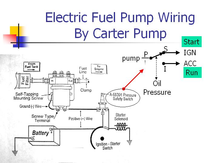 oil pressure safety switch wiring diagram