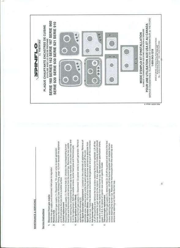 Spinflo Cooktop instructions/install booklet p.1
