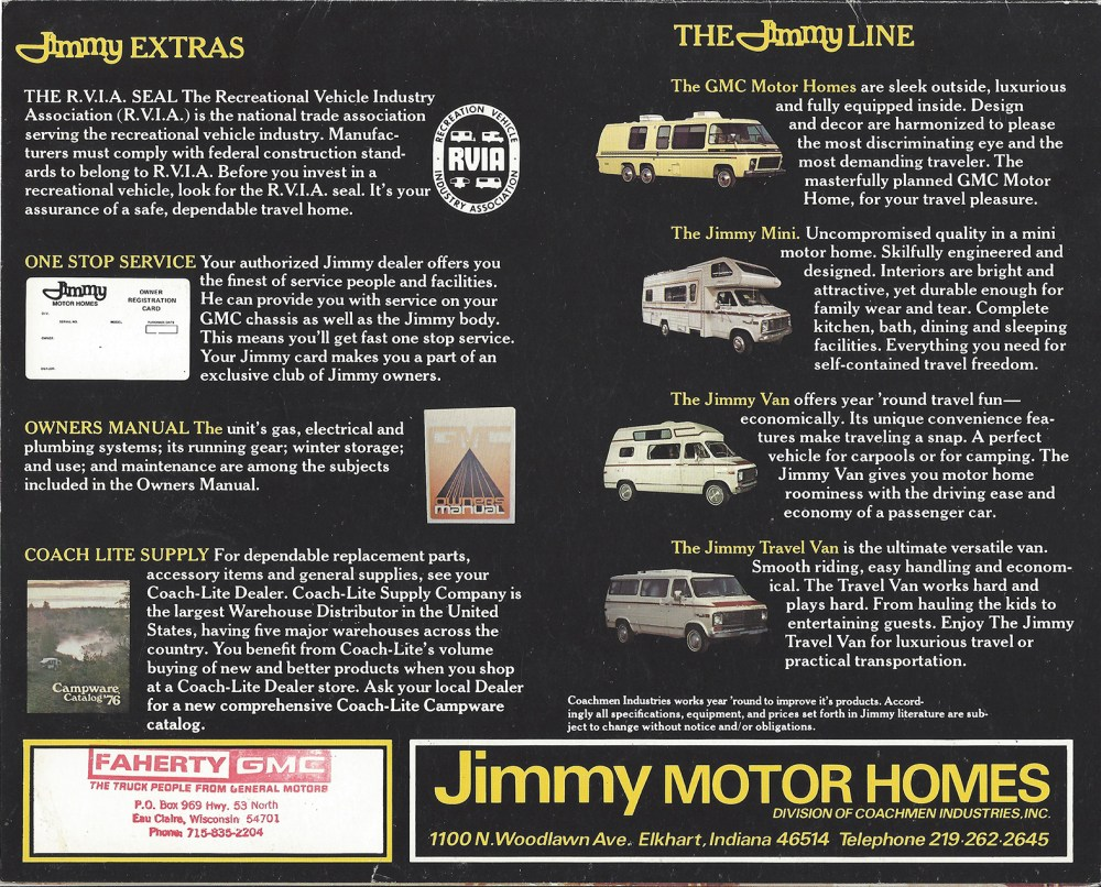 medium resolution of 1977 birchaven brochure jimmy motor homes source keith kim weeks