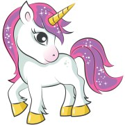 pink hair unicorn iron transfer