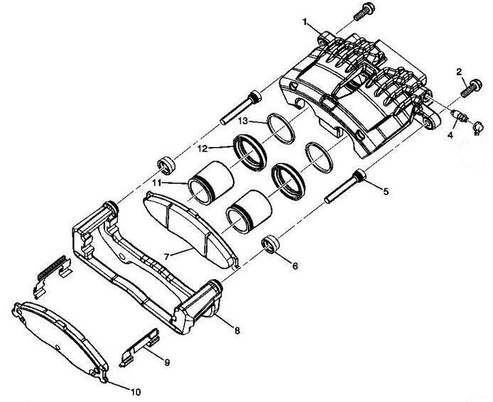 Тормозная система Cadillac SRX 2004-2009