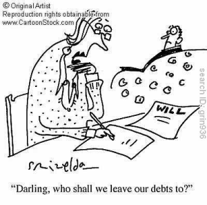 Probate Question: Am I responsible for someone's debts