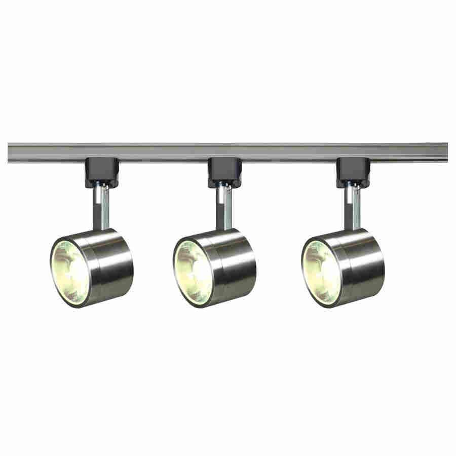 nuvo by satco tk407 1 module transitional dimmable led track lighting kit circular led lamp 120 vac round head