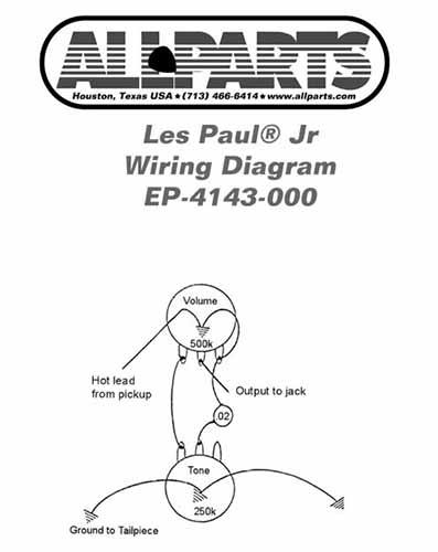 Kopplingsset för Les Paul Junior