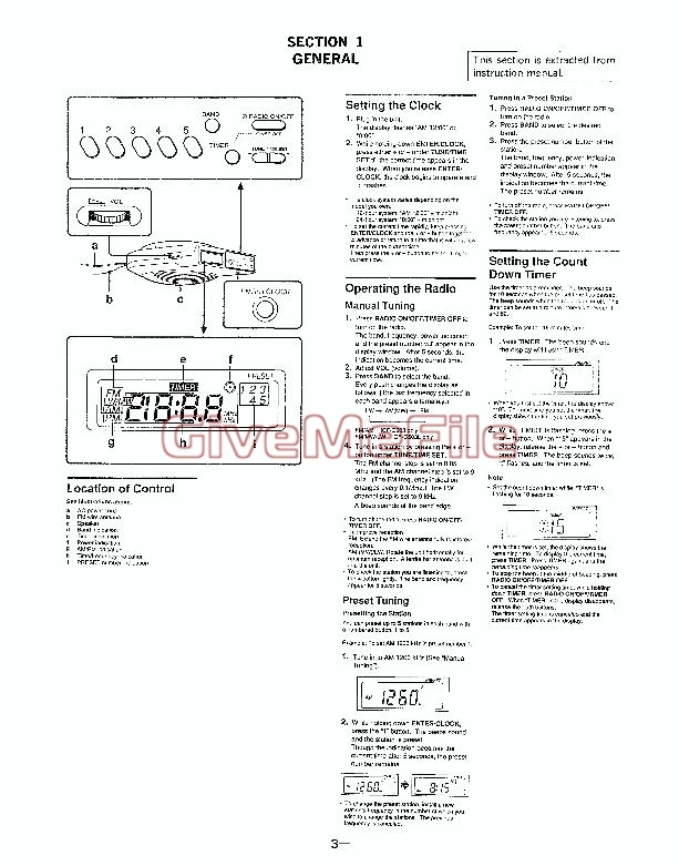ICF-C503L manual de usuario descargar para Canon reloj de