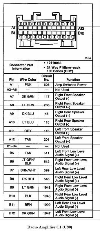 2004 Trailblazer Radio Wiring Diagram 2000 Ssei Bose Amp Wiring Diagram Gm Forum Buick