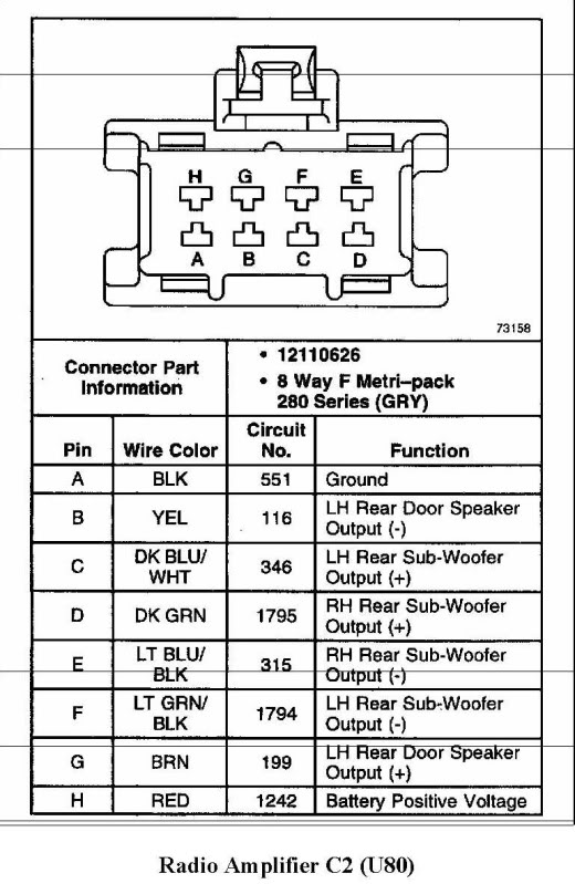 2000 ssei bose amp wiring diagram  GM Forum  Buick