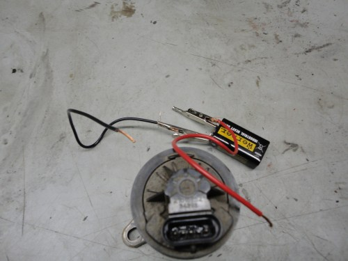 small resolution of unplug the egr solenoid then take a 9v battery and connect a wire to each post on the battery