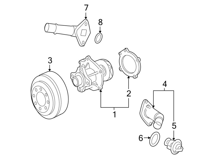 2001 GMC Yukon SLT Sport Utility Thermostat. Seal. Engine