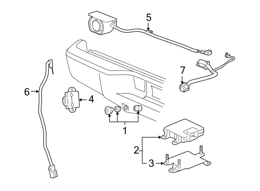 2012 Chevrolet Silverado 1500 Parking Aid System Speaker