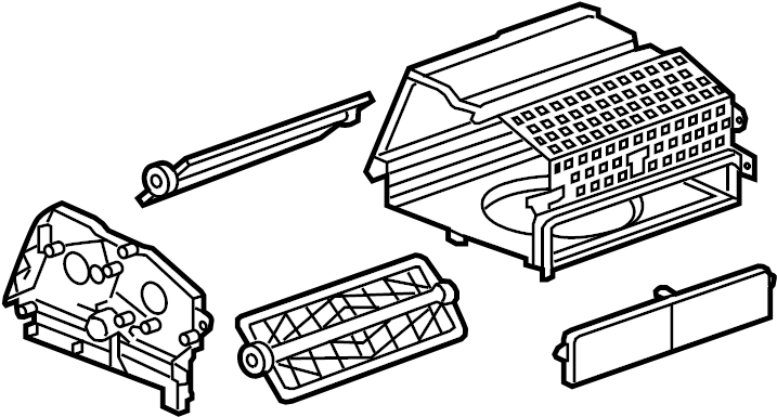 Chevrolet Cruze Ac & heater assy. Ac & heater case. Case