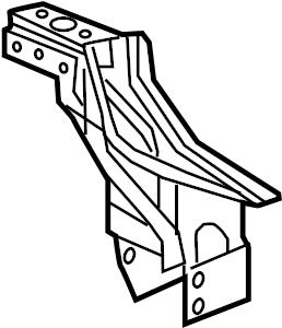 2014 Chevrolet Cruze LT Floor Side Rail Bracket. Frame