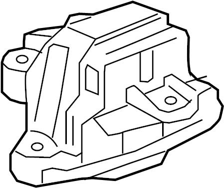 Chevrolet Trax Motor mount. MOUNT. Buick; Chevrolet