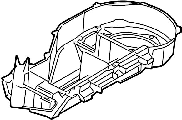 Pontiac Montana SV6 Case-blo lwr. Evaporator case. Lower
