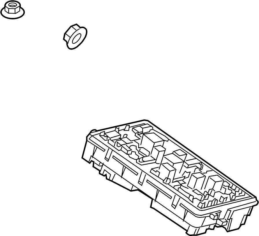 Cadillac SRX Base Block. Fuse & relay box. Engine