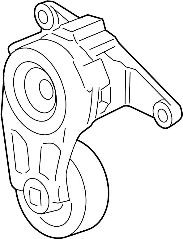 2009 Pontiac Belt tensioner. IDLER PULLEY. SERPENTINE