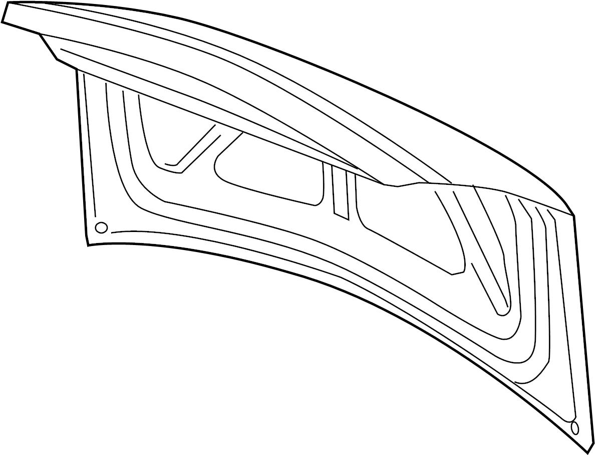 2007 Chevrolet Impala SS 5.3L V8 Panel. Trunk lid. W/o