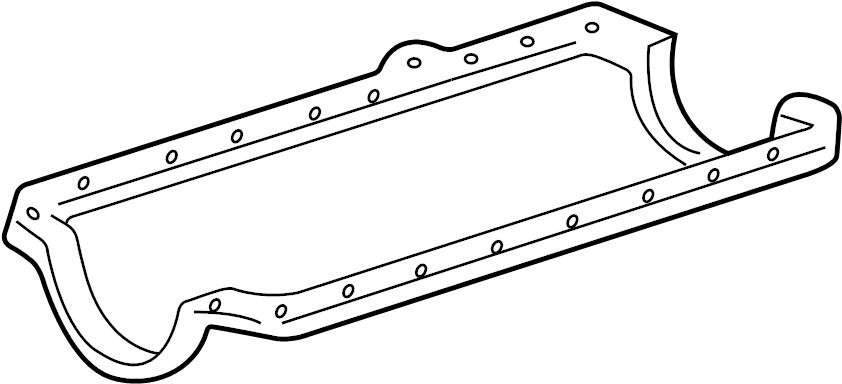 GMC C2500 Gasket. Oil pan. Oil pan gasket. Oil pan gasket