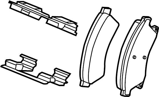 2012 Chevrolet Cruze Brake pads. Disc Brake Pad Set. FRONT
