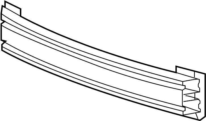 2015 Chevrolet Sonic LS Bar. Upper impact bar. 2012-16
