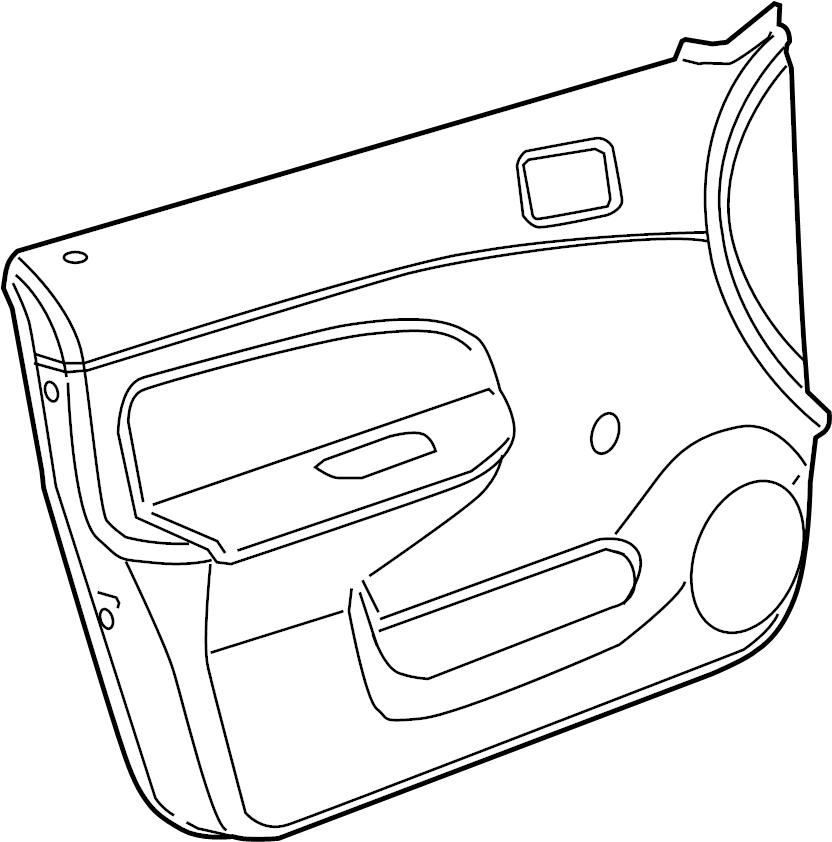 Chevrolet Cobalt SS Door trim panel. PANEL. Chevrolet