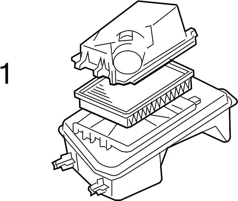 Pontiac G6 Air filter. Element. Element asm-a/cl. Part