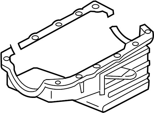 Pontiac Montana SV6 Oil pan. PAN. PAN ASM-OIL. PAN, OIL