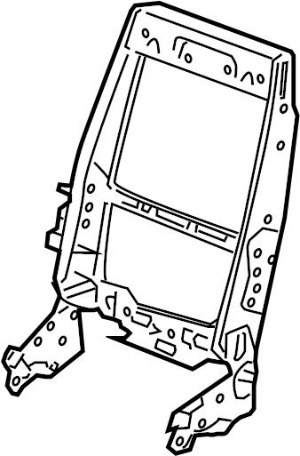 Pontiac Montana SV6 Frame. Frame asm, d/seat bk cush. Seat