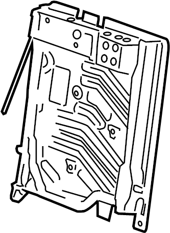 Pontiac Montana SV6 Frame. Frame asm, r/seat #2 bk cush