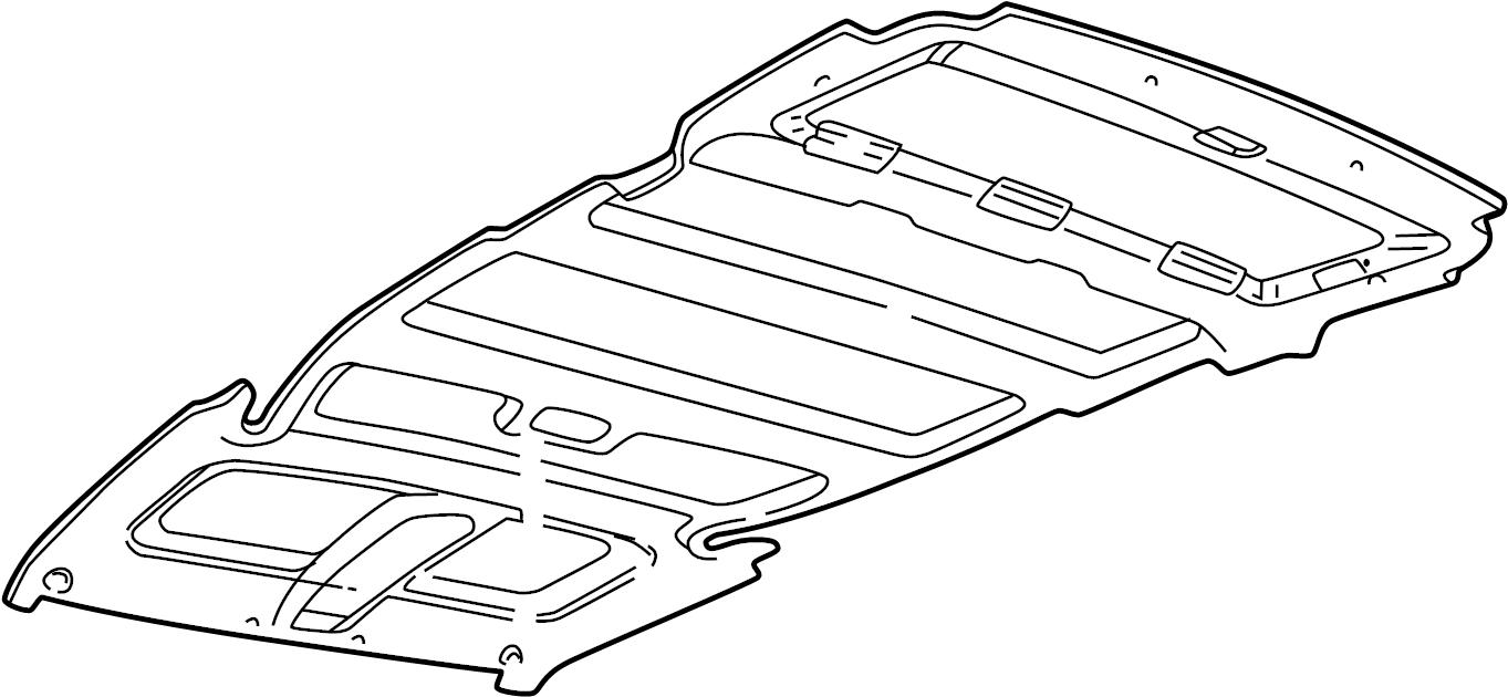 Pontiac Montana SV6 Headliner. PNL HDLNG. Chevrolet