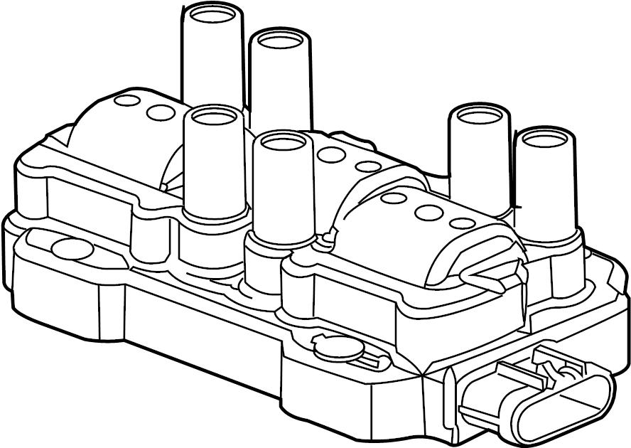 Pontiac Montana SV6 Coil. Coil asm-ign. Ignition coil
