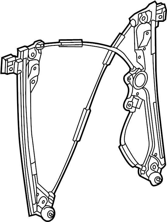 GMC Sierra 1500 Regulator. Window regulator. Silverado