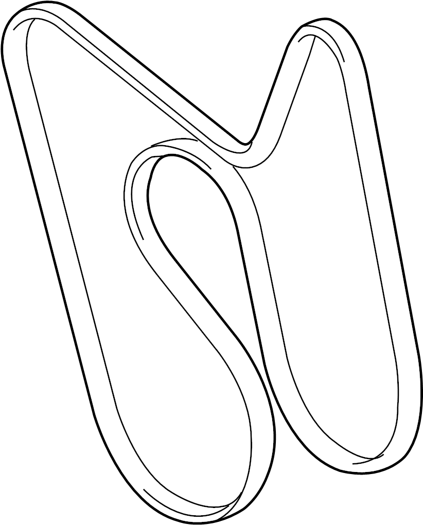 2005 Belt. Drive belt. Serpentine belt. Cadillac