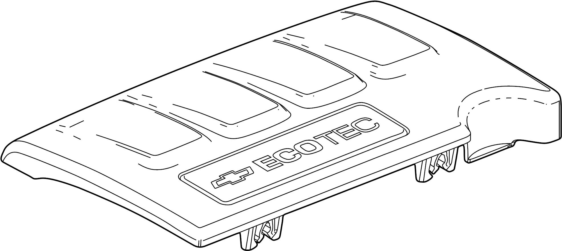 Chevrolet Cruze Emblem. Engine cover. 1.4 liter turbo