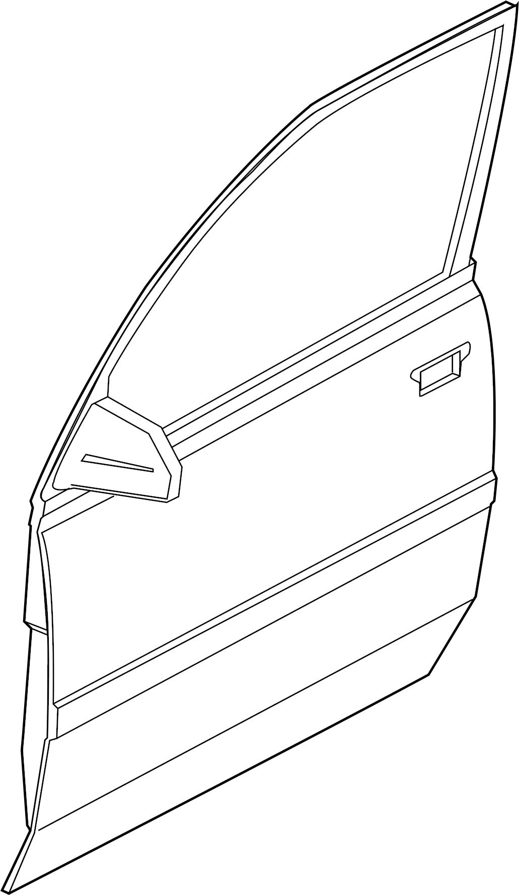 1999 Chevrolet Tracker Mldg-f/dc. Molding. Side molding. 4