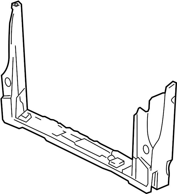Pontiac Montana SV6 Lower tie bar. Radiator Support Tie