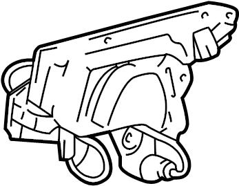 2002 Oldsmobile Silhouette Premiere Actuator. Lock