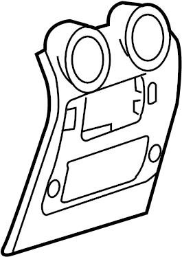 2005 Hummer H2 Console Trim Panel. Rear panel. 2003-07