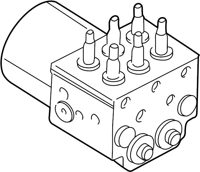 GMC Sierra 2500 HD Modulator valve. Pressure valve. Valve