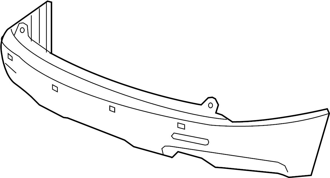 GMC Acadia Bumper Cover. Rear Lower; 2007-12; w/Denali