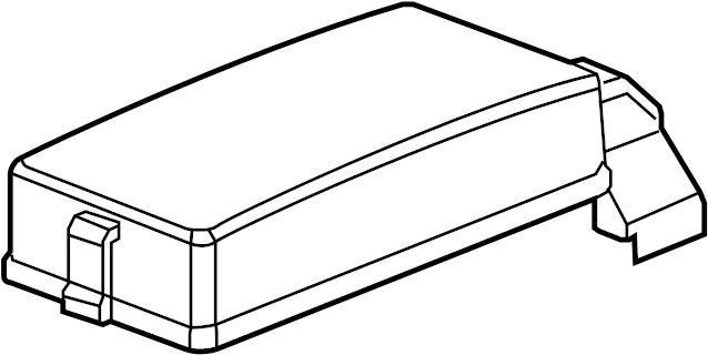 2008 Pontiac Torrent Fuse Box Cover. Upper cover. Upper