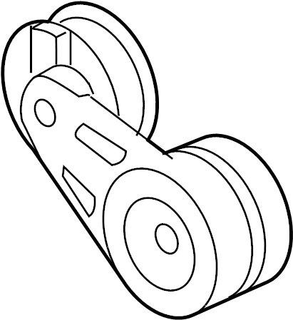 Pontiac Montana SV6 Belt tensioner. SERPENTINE TENSIONER