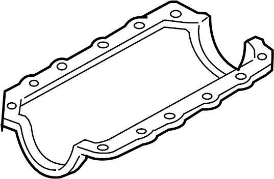 Pontiac Montana SV6 Gasket. Oil pan gasket. Seal-oil pan