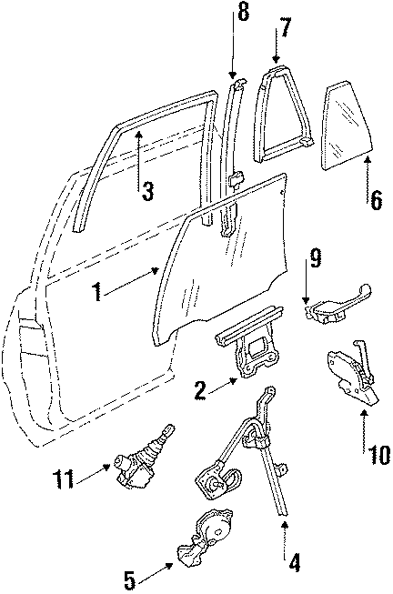Cadillac Deville Lock Assembly, Side. (Rear). All Models